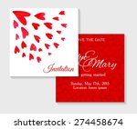 vector invitation cards with...   Shutterstock .eps vector #274458674