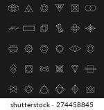 set of abstract geometric... | Shutterstock .eps vector #274458845