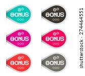 bonus labels set | Shutterstock .eps vector #274464551