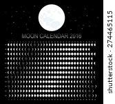 moon calendar 2016 | Shutterstock .eps vector #274465115