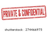 private and confidential grunge ... | Shutterstock .eps vector #274466975