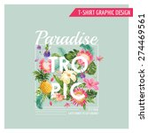 Tropical Flowers Graphic Design ...