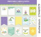cute bear card set for birthday ... | Shutterstock .eps vector #274469579