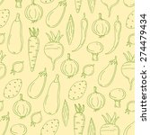 vector seamless pattern on... | Shutterstock .eps vector #274479434