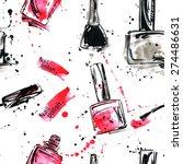 watercolor seamless pattern... | Shutterstock .eps vector #274486631