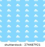 repeatable cloud pattern in... | Shutterstock .eps vector #274487921