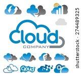 cloud logo symbol vector