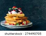 homemade baked traditional... | Shutterstock . vector #274490705