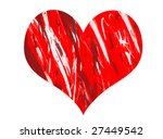 heart with paint | Shutterstock . vector #27449542