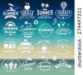 summer typography designs.... | Shutterstock .eps vector #274497311