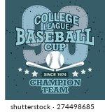 vector baseball and graphics... | Shutterstock .eps vector #274498685