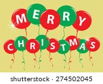 party card merry christmas with ... | Shutterstock .eps vector #274502045
