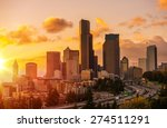 seattle scenic sunset with... | Shutterstock . vector #274511291