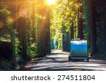 camping in redwoods. travel... | Shutterstock . vector #274511804