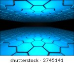 fantasy_blue_perspective | Shutterstock . vector #2745141