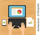 business plan   flat design   Shutterstock .eps vector #274516454