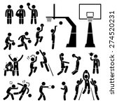 basketball player action poses... | Shutterstock .eps vector #274520231