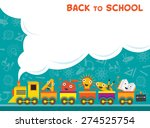 train with education characters ... | Shutterstock .eps vector #274525754