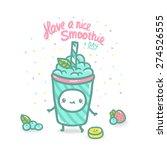 cute cartoon fruit smoothie... | Shutterstock .eps vector #274526555