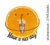 cute have a nice day greeting... | Shutterstock .eps vector #274526681