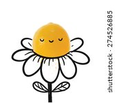 funny cartoon flower image.... | Shutterstock .eps vector #274526885