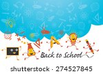 education characters run back... | Shutterstock .eps vector #274527845