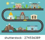 urban landscape in flat design. ... | Shutterstock .eps vector #274536389