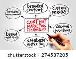 content marketing techniques... | Shutterstock . vector #274537205