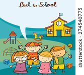 kids characters back to school... | Shutterstock .eps vector #274540775
