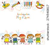 kindergarten  kids and... | Shutterstock .eps vector #274540817