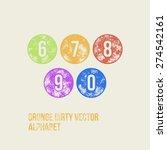 grunge retro circular stamp... | Shutterstock .eps vector #274542161