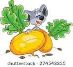 mouse with turnips | Shutterstock .eps vector #274543325