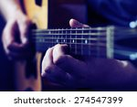 Hands Playing Acoustic Guitar ...