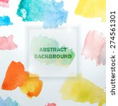 abstract watercolor background... | Shutterstock .eps vector #274561301