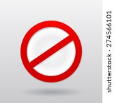 vector red restriction do not... | Shutterstock .eps vector #274566101