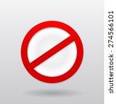 vector red restriction do not... | Shutterstock .eps vector #274566101