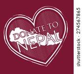 heart shape donate to nepal...   Shutterstock .eps vector #274567865