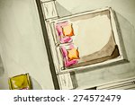 floor plan bedroom fragment... | Shutterstock . vector #274572479