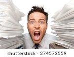 emotional stress  exhaustion ... | Shutterstock . vector #274573559