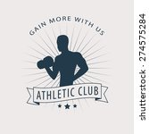 gain more with us emblem with... | Shutterstock .eps vector #274575284