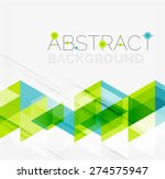 abstract geometric background.... | Shutterstock .eps vector #274575947