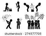 Fireworks. Black Silhouettes O...