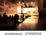 Stock photo blur or defocus image of coffee shop or cafeteria for use as background 274583534