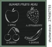 set of summer fruits menu  ... | Shutterstock .eps vector #274587755