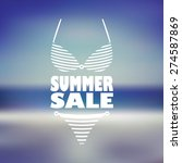 summer sale poster with sexy...