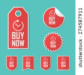 buy now stickers. limited time... | Shutterstock .eps vector #274587911