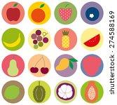 colored random fruit vector | Shutterstock .eps vector #274588169