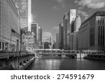 chicago downtown and chicago... | Shutterstock . vector #274591679