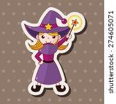 witch cartoon   cartoon sticker ... | Shutterstock . vector #274605071