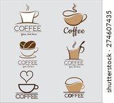 set coffee logo  labels  design ... | Shutterstock .eps vector #274607435